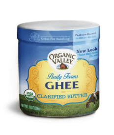Organic Valley Ghee best oil to cook with and higher smoke point