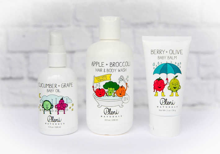Pleni Naturals baby oil, baby wash and baby balm