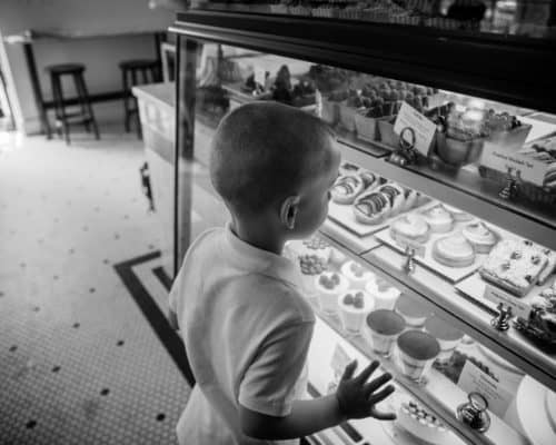 kid at bakery