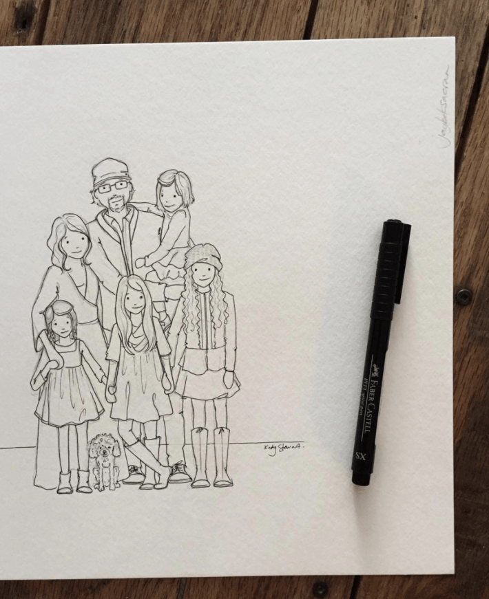 Illustrated Family Portrait
