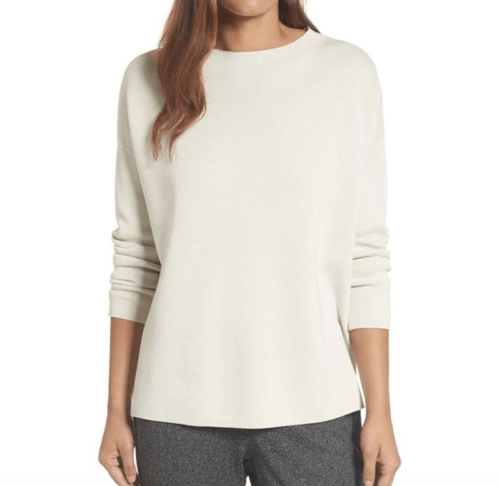 Mock Neck Organic Cotton Sweater