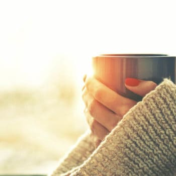 coffee mug, red nails, big sweater, fat coffee, butter coffee, coconut oil coffee