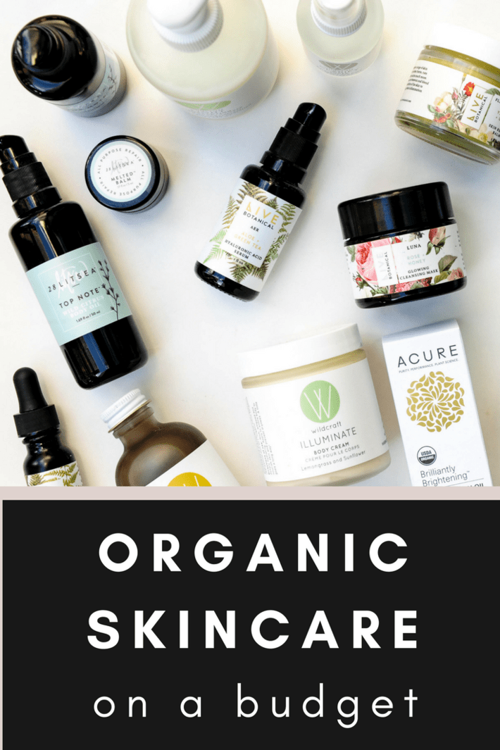 Luxe organic skincare doesn't have to break the bank! I'm dishing on several organic skincare options that are lower in price but not lower in quality. All of these preform, are clean and dare I say LUXE at a fraction of the cost. Coupon codes too! #thisorganicgirl #organicskincare #budgetskincare #affordableskincare #bestskincare