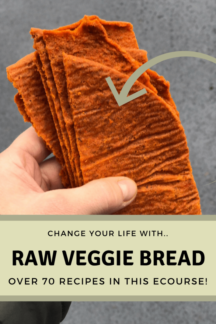 Learn how to substitute bread, buns, crackers, pizza crust, taco shells, wraps and more with nutrient dense, raw, gut friendly veggies that actually taste good! Three years later I can't stop making this bread! #thisorganicgirl #glutenfreebread #rawveggiebread #bestbread #breadrecipe