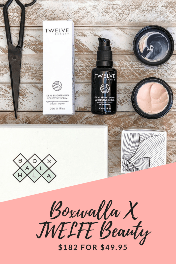 April Boxwalla features two goodies from TWELVE Beauty: The London Mask and Ideal Brightening Corrective Serum. I can't wait to see if the Corrective Serum can help minimize my hyperpigmentation like it promises! Anyone else a child of the 80s and feel this way?! #thisorganicgirl #boxwalla #twelvebeauty #thelondonmask #nontoxicskincare