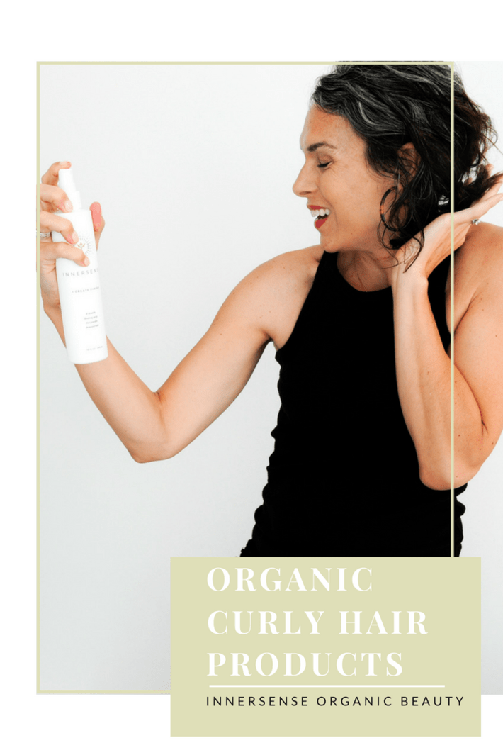 Organic curl cream, gel, mousse, hair spray and shampoos - all to style curly hair! It's all about Innersense Organic Beauty. This line moisturizes and defines my curls like a champ! #curlyhair #nontoxichair #organichairspray #organicmousse #organicshampoo #thisorganicgirl