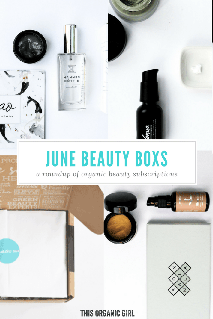 Rounding up all the organic beauty boxes June has to offer! I'm talking Beauty Heroes, Art of Organics, Boxwalla and The Detox Box - I found some new faves in June. See which deal is right for you! #organicskincare #nontoxicskincare #thisorganicgirl #beautyheroes #artoforganics #boxwalla #thedetoxbox #beautysubscription