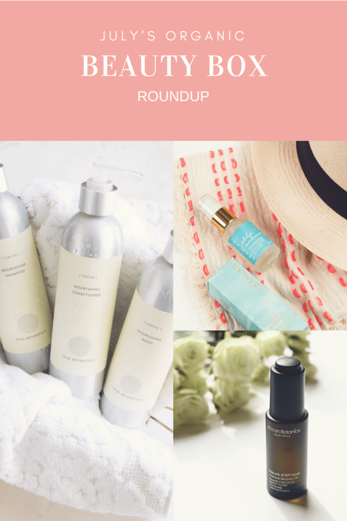 July's Organic Beauty Box roundup