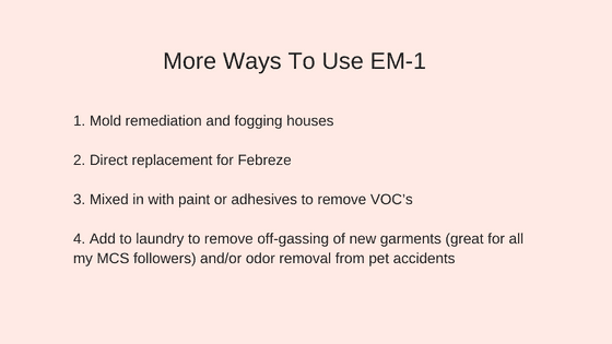 how to use EM-1 organic gardening