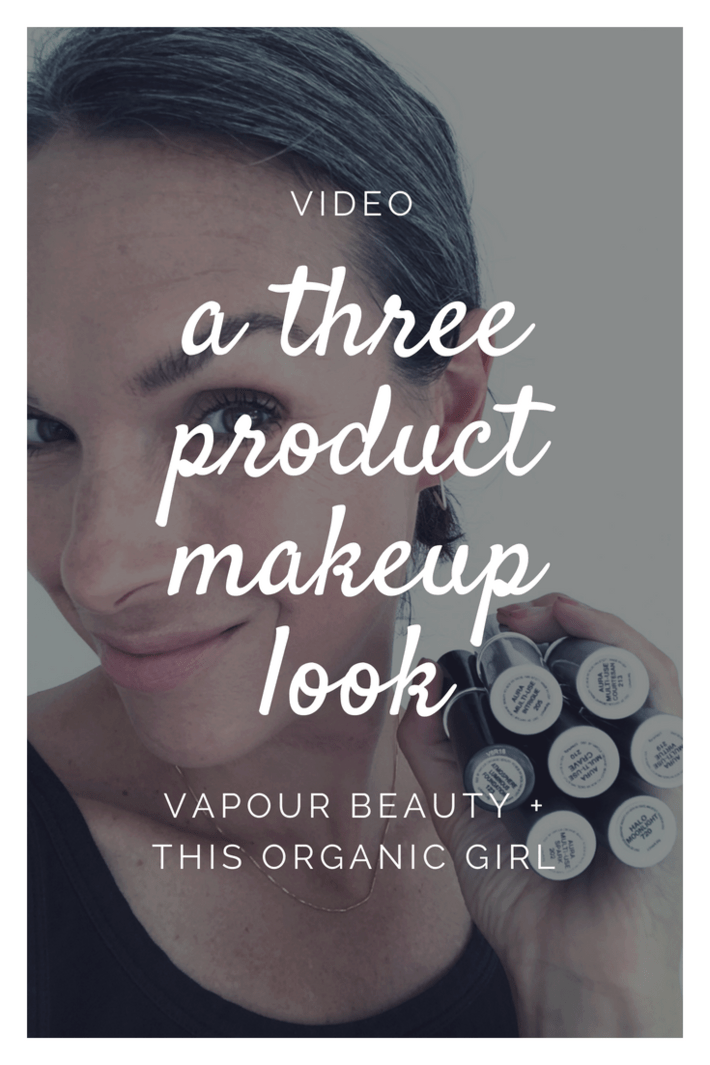 organic makeup look with vapour