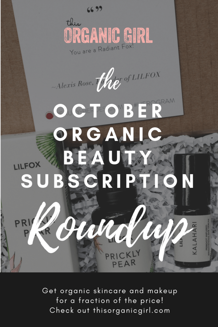 Boxwalla does it again delivering African Botanics, Beauty Heroes really knows me delivering LILFOX's beautiful prickly pear face serum and eye serum and be sure to check back on 10/5/18 for The Detox Box and Art of Organics! #thisorganicgirl #organicbeauty #organicskincare #organicmakeup #beautysubscription #organicbeautysubscription