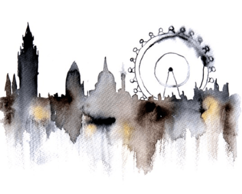london water color
