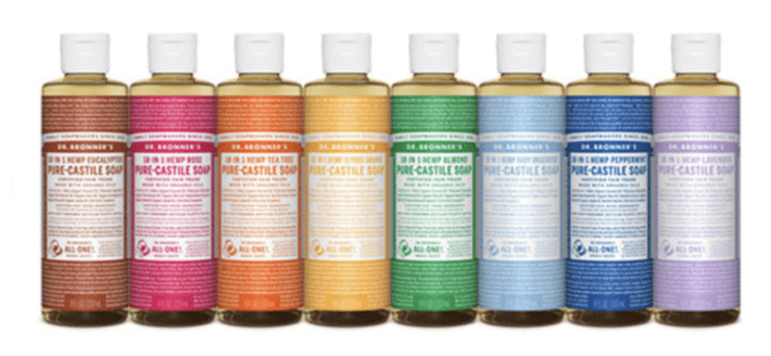 Dr. Bronners organic castile soap