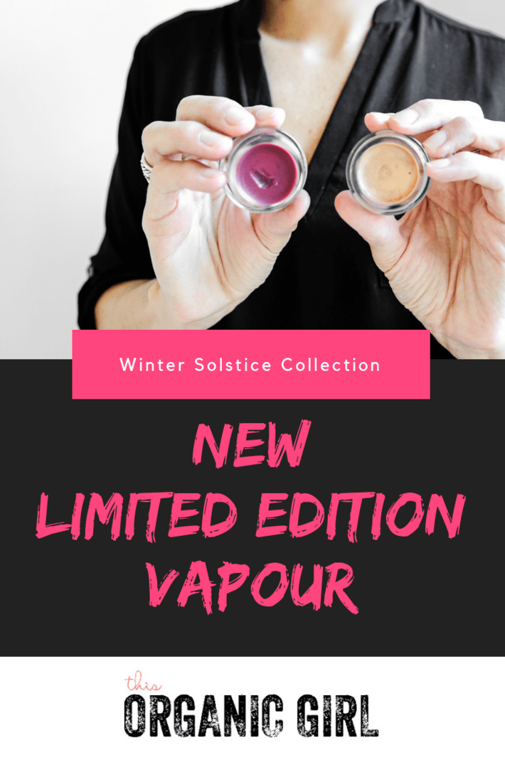 Vapour's Limited Edition Winter Solstice collection drops today with a never before seen highlighter in 24K and the prettiest lip Velvet Lip Gloss in Lavish! #thisorganicgirl #vapourorganicbeauty #organicmakeup #cleanmakeup #organichighlighter #organicchristmasgifts