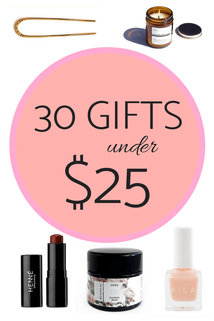 Stuff her stocking with all the goodies that delight and surprise without the toxins! Over 30 organic gifts all under $25! #thisorganicgirl #organicstockingstuffers #organicgifts #nontoxicgifts #naturalgifts #budgetgifts