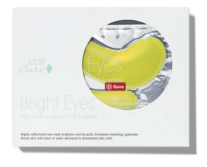 100% Pure Bright Eye Masks organic gifts organic stocking stuffers
