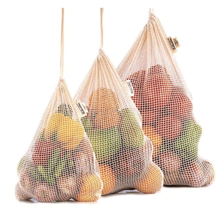 Reusable produce bags, organic gifts