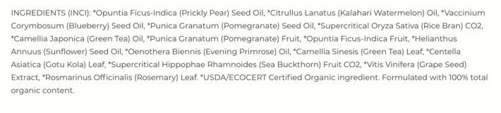 Prickly Pear Repair Serum ingredients