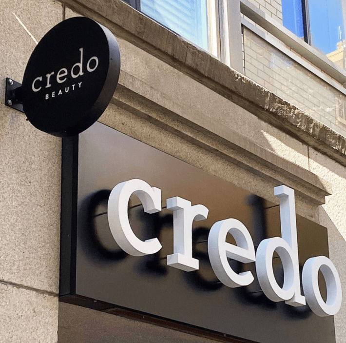 credo beauty store front