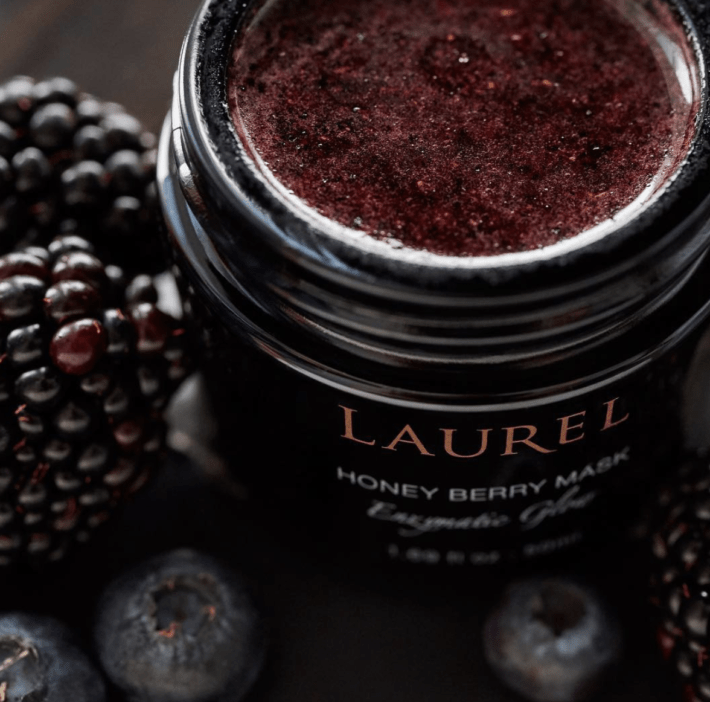 the inside of laurel's honey berry mask