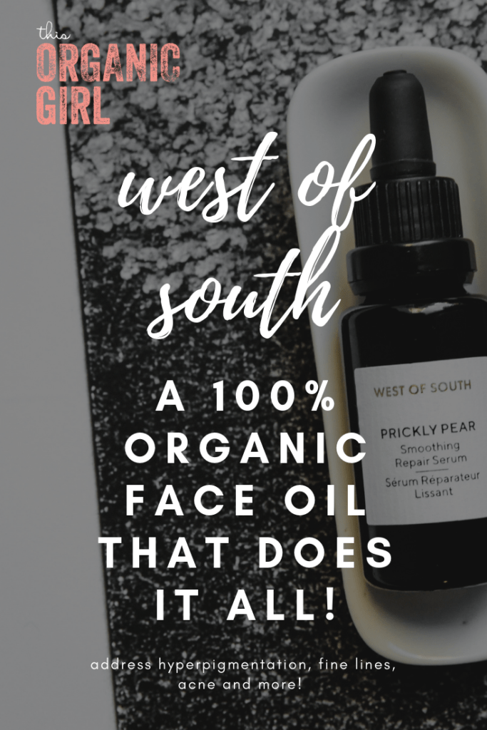 West of South Prickly Pear Organic face moisturizer