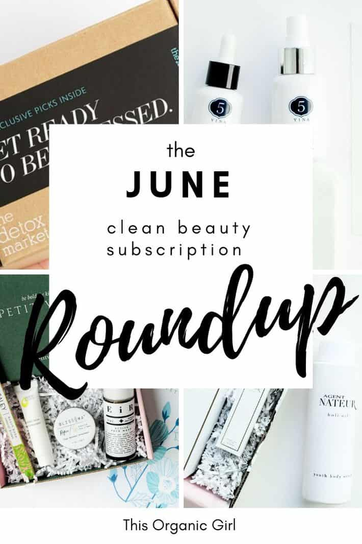 natural beauty subscription roundup of boxwalla, beauty heroes, clean beauty box and petit vour
