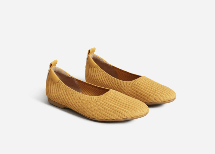 stock photo of recycled polyester Day Glove ReKint flat shoes from Everlane