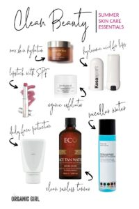 clean beauty summer skin care essentials
