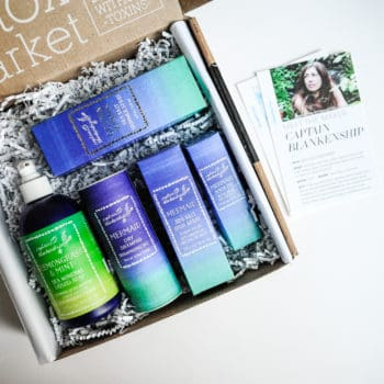 unboxing of June Detox Box featuring organic haircare by Captain Blankenship