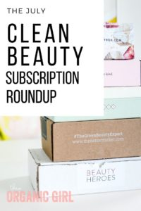 a stack of 5 clean beauty subscription boxes