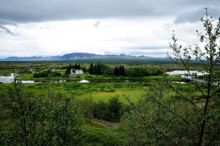 the view from Þingvellir National Park lookout