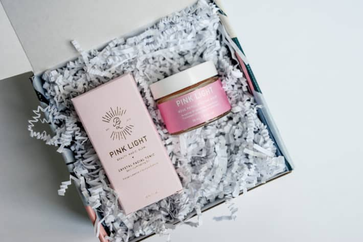 The August Clean Beauty Box featuring Pink Light