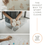 three photos of dryer balls, bee's wrap and produce bags from mightyfix