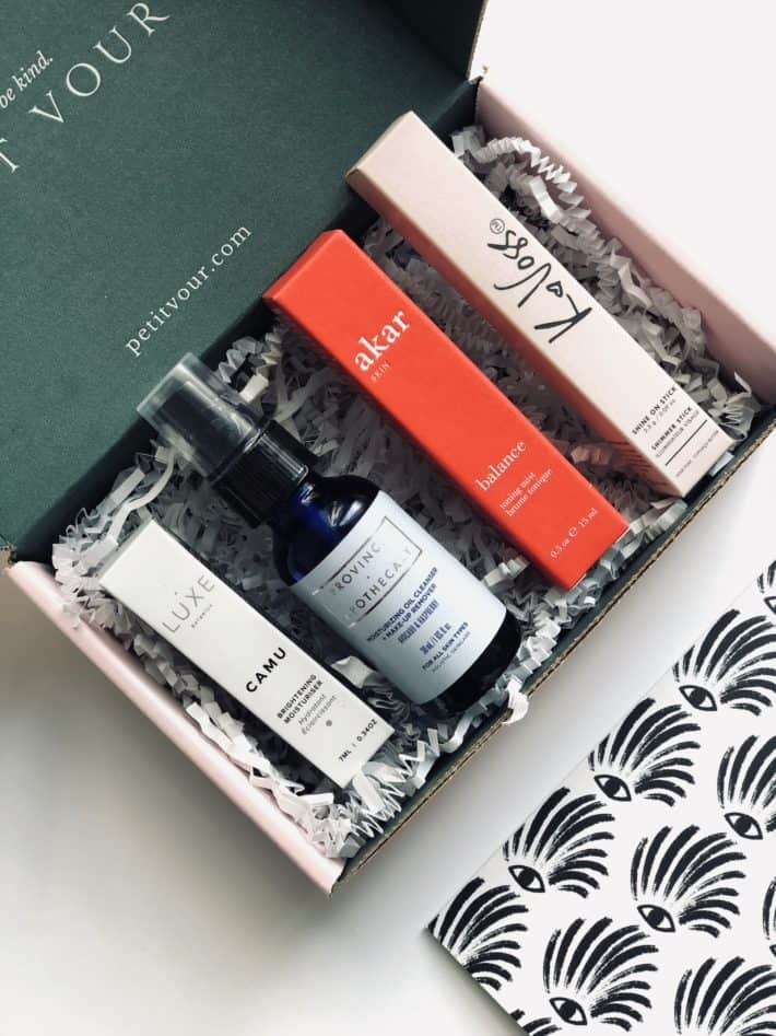 unboxing the October Petit Vour Box