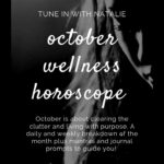 black and white image of a girl - the october wellness horoscope