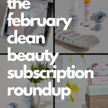 clean beauty subscriptions flat lay