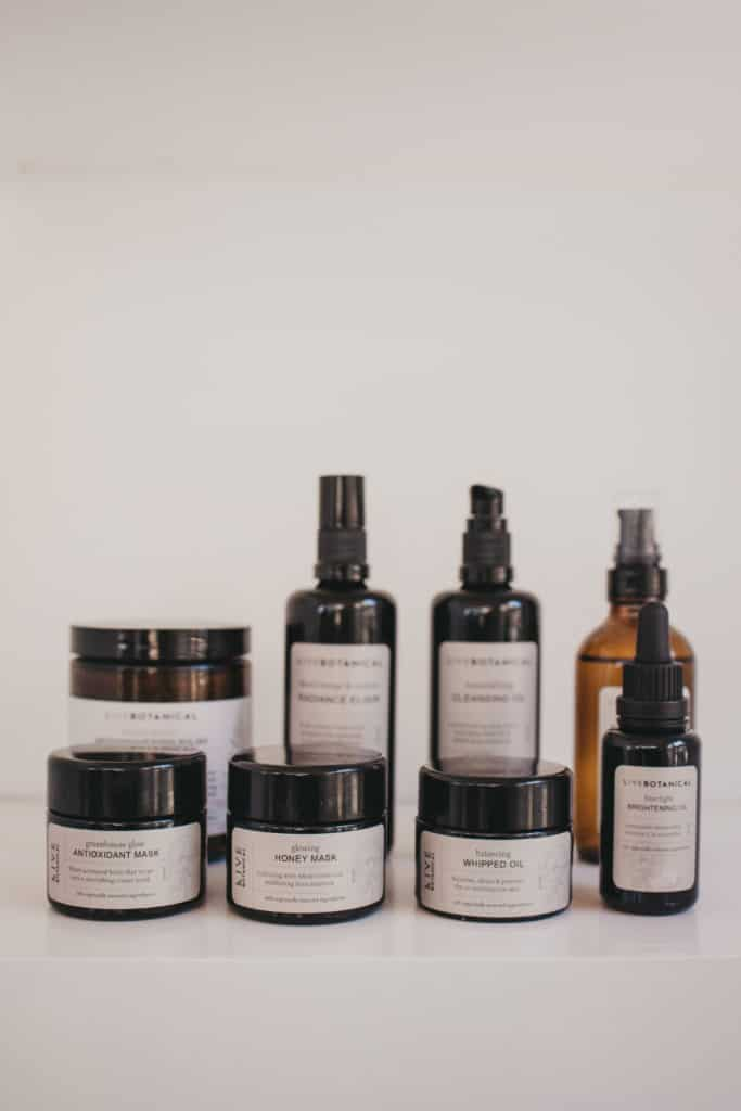 8 products from the LIVE BOTANICAL line
