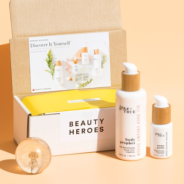 unboxing the March Beauty Heroes featuring Free + True