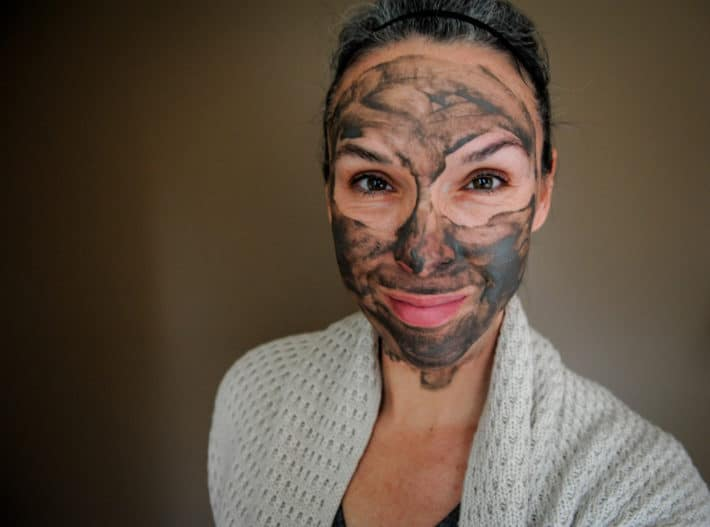 wearing True Botanicals Pacific Glacial Clay Detoxifying Mask