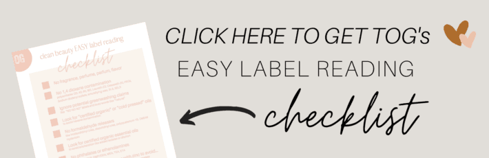 easy cosmetics label reading check list