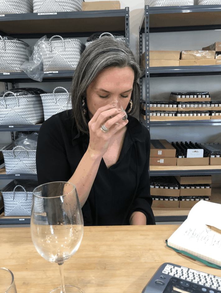 scent testing at the maya chia studio