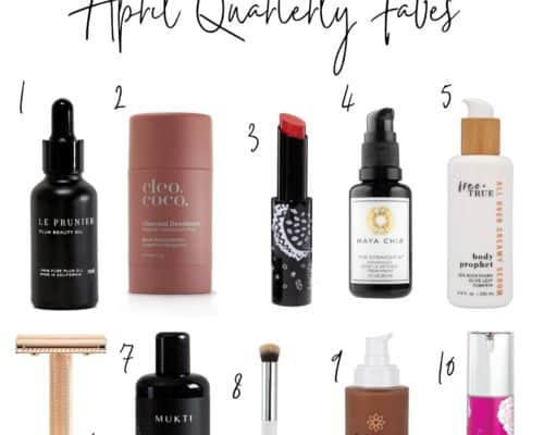 a roundup of 8 of the best organic beauty products for april 2020