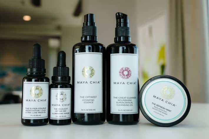 Maya Chia skincare products