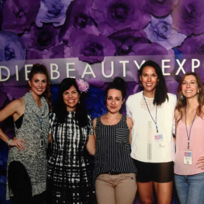 in a row, Amanda, Jeannie, Mercedes, me and Molly at IBE NYC 2016