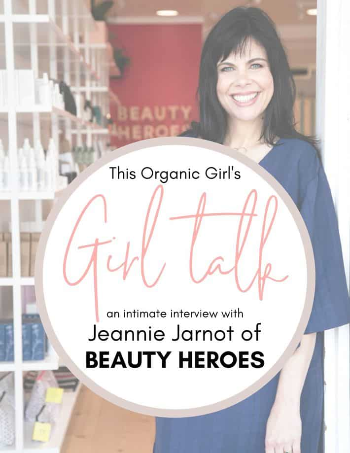 portrait of Jeannie Jarnot with text overlay promoting Girl Talk Interview
