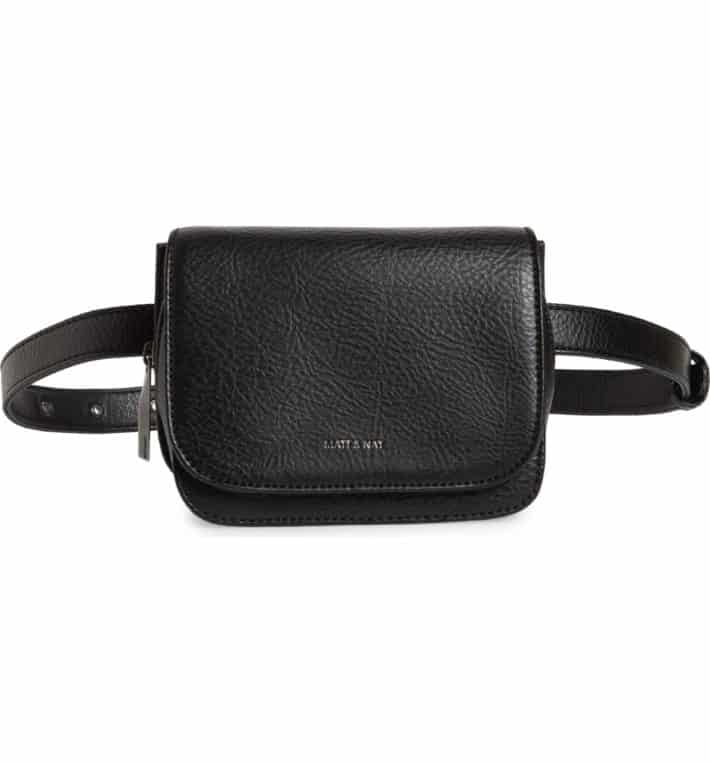 product photo of black leather purse