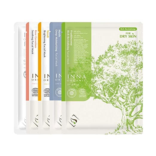 inna organic sheet masks