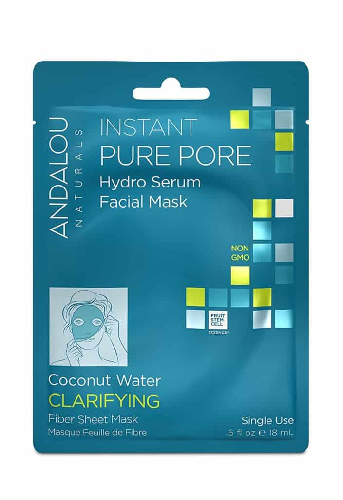 blue packet of Andalou Naturals facial mask