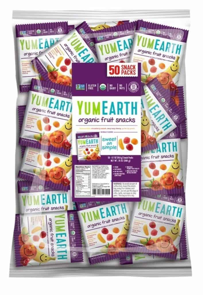 50 pack of YumEarth Organic Vegan Fruit Snacks