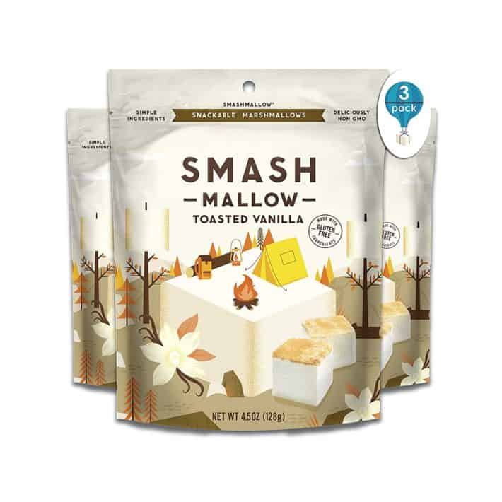 three packs of SmashMallow toasted vanilla